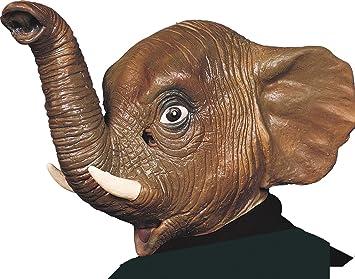 Ciao 30163 – Máscara elefante de látex, marrón