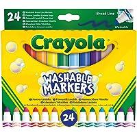 58 – 6570 CRAYOLA 24 Rotuladores Súper Lavables Maxi Punta, Multicolor