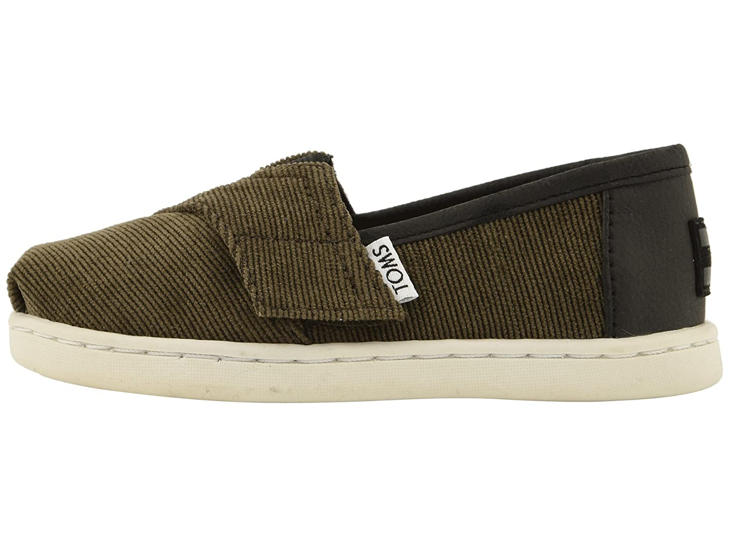 2bdf9b903d428 TOMS Kids Baby Boy's Alpargata (Infant/Toddler/Little Kid) Tarmac Olive  Micro Corduroy/Synthetic Leather 5 M US Toddler