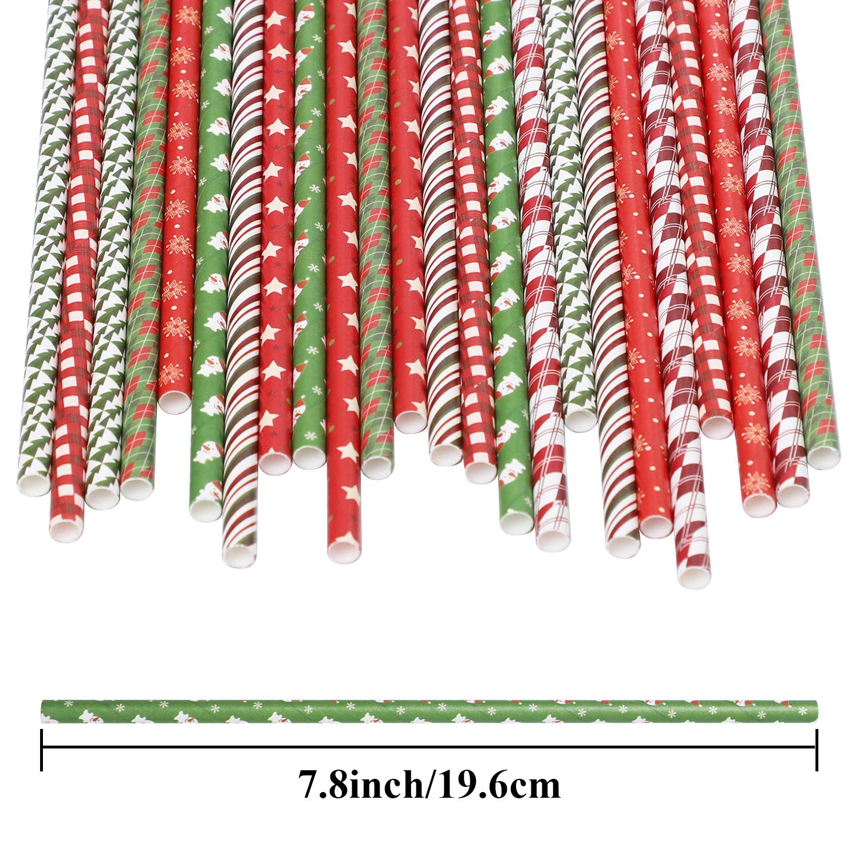 Farbe A biologisch abbaubar Papier-Strohhalme f/ür Hochzeitsbedarf und Weihnachtsgeschenke Cooraby Trinkhalme 200 St/ück