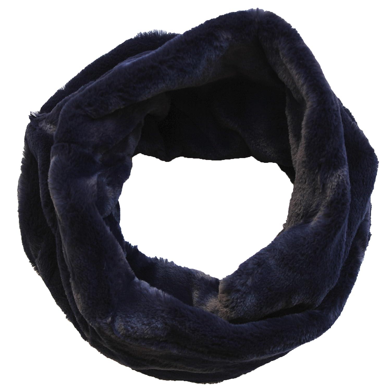 FERETI Écharpe Ronde Femmes Laine Lapin Bleu En Fourrure Mohair Teddy Tube  Châle Snood  Amazon.fr  Vêtements et accessoires a01cc17981b