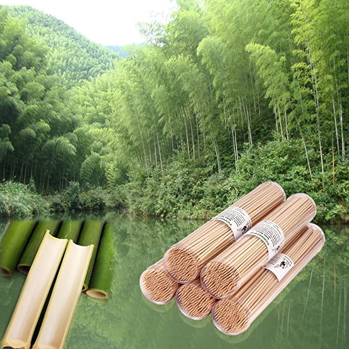 Amazon.com: Pinchos de madera natural de bambú de ...