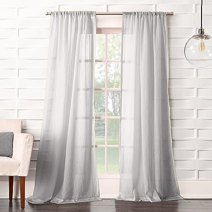 Amazon Com No 918 Tayla Crushed Sheer Voile Rod Pocket Curtain