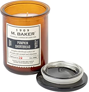 product image for Colonial Candle M. Baker Limited Edition Harvest Collection, Pumpkin Shortbread, Small Deco Glass Jar, 8 OZ