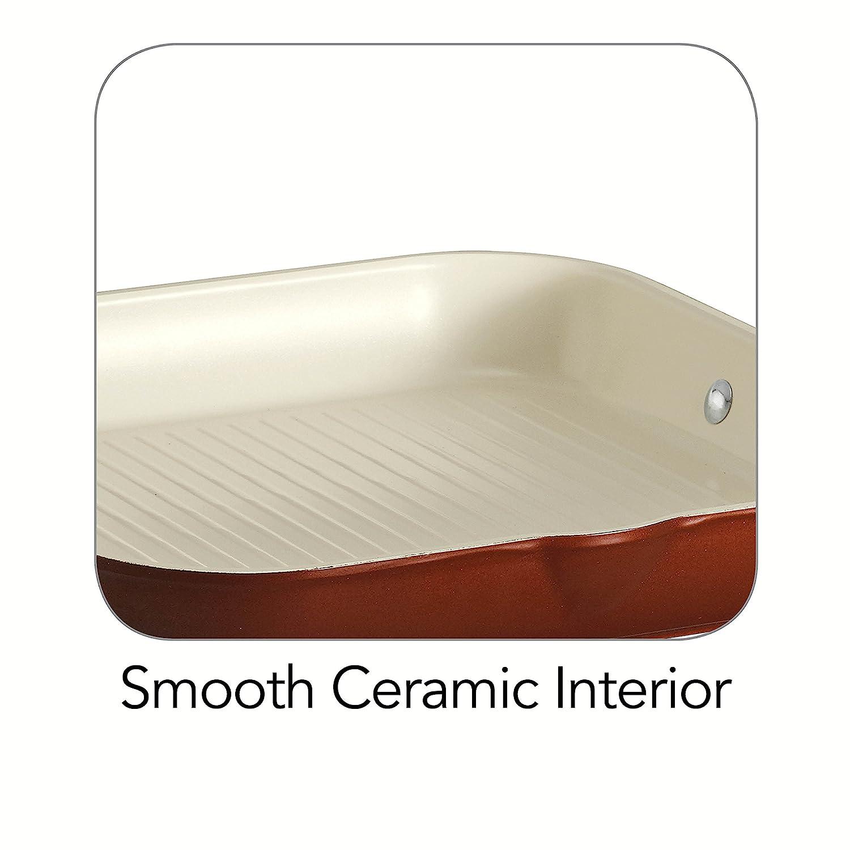 Amazon.com: Tramontina 80110/047DS Style Ceramica 01 Square Grill Pan, 11-Inch, Metallic Copper: Ceramic Grill Pan: Kitchen & Dining