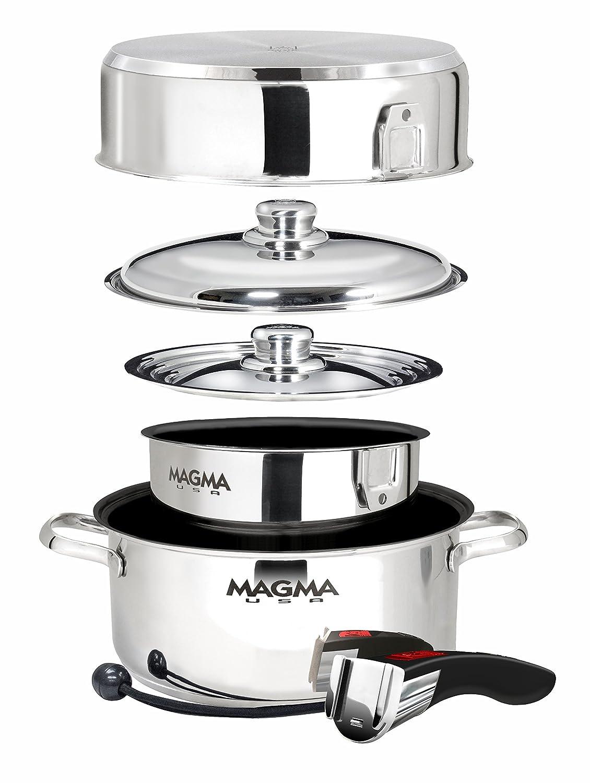 Magma Productos, A10 - 363 - 2-ind, Gourmet Nesting 7 piezas Cocina de inducción de acero inoxidable con Ceramica antiadherente: Amazon.es: Deportes y aire ...
