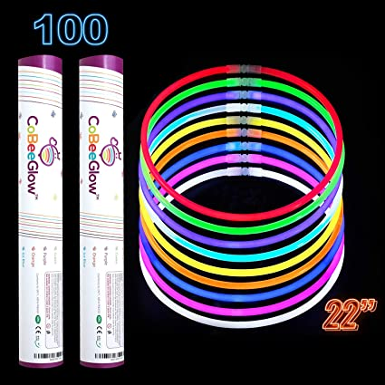 """50 22/"""" GREEN Glowing Necklaces Glow Stick Party Treats"""