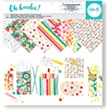 American Crafts We R Memory Keepers Oh Goodie! 12 X 12 Inch Glassine Paper Pad Pattern 24 Sheet