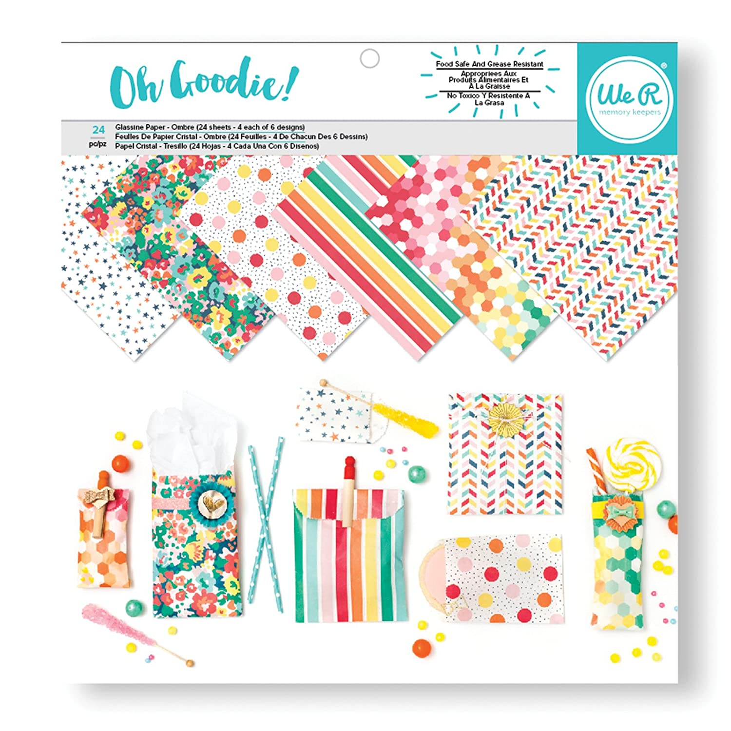 Oh Goodie We R Memory Keepers-Carta detta /«Cristallo/» Motivo 12 x 30 cm