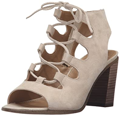 Steve Madden Womens Nilunda High Heel Lace Up Sandal Shoes, Sand Suede, US  5.5