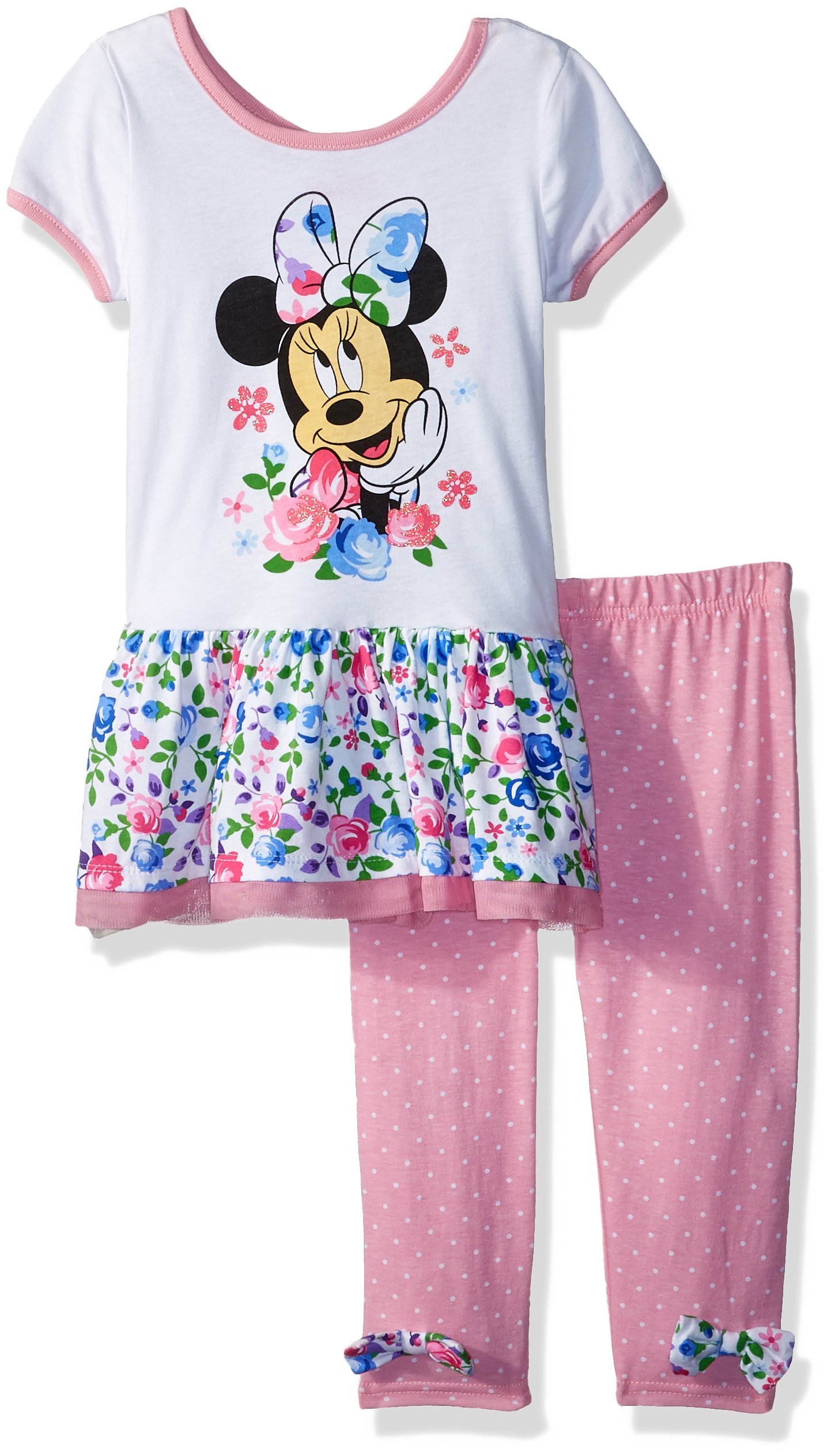 Disney Little Girls' Minnie 2 Piece Legging Set, Prism, 4