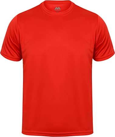 Camiseta deportiva transpirable para hombre, rojo, XXXL: Amazon.es: Deportes y aire libre