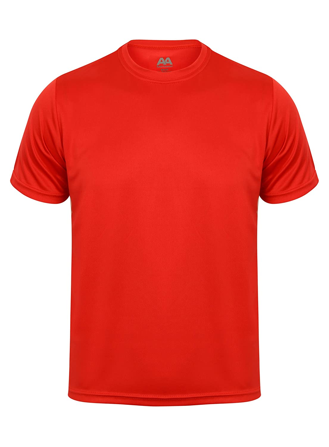 MENS T-SHIRT BREATHABLE PERFORMANCE GYM RUNNING SPORTS FITNESS ACTIVE TOP TEE AA SPORTSWEAR
