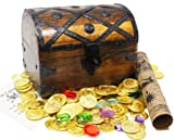 Well Pack Box Wooden Pirates Treasure Chest 156