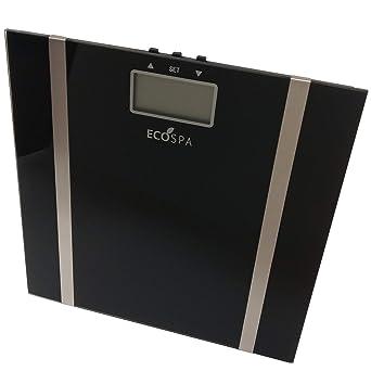ECOSPA- Báscula de baño Digital con pantalla LCD , Incorpora medidor de grasa corporal e