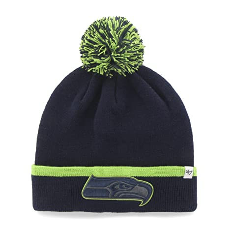 Image Unavailable. Image not available for. Color  NFL Seattle Seahawks  47  Baraka Cuff Knit Hat with Pom ... 413539d5c71e