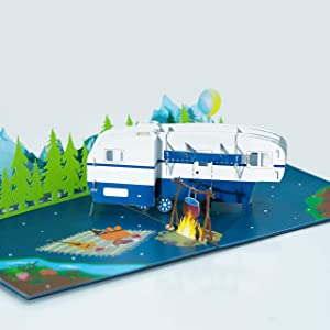 Camping pop up card, Father's Day Card, Pop Up Father's Day Card, Card for Dad, Card for Husband, 3D Father's Day Card