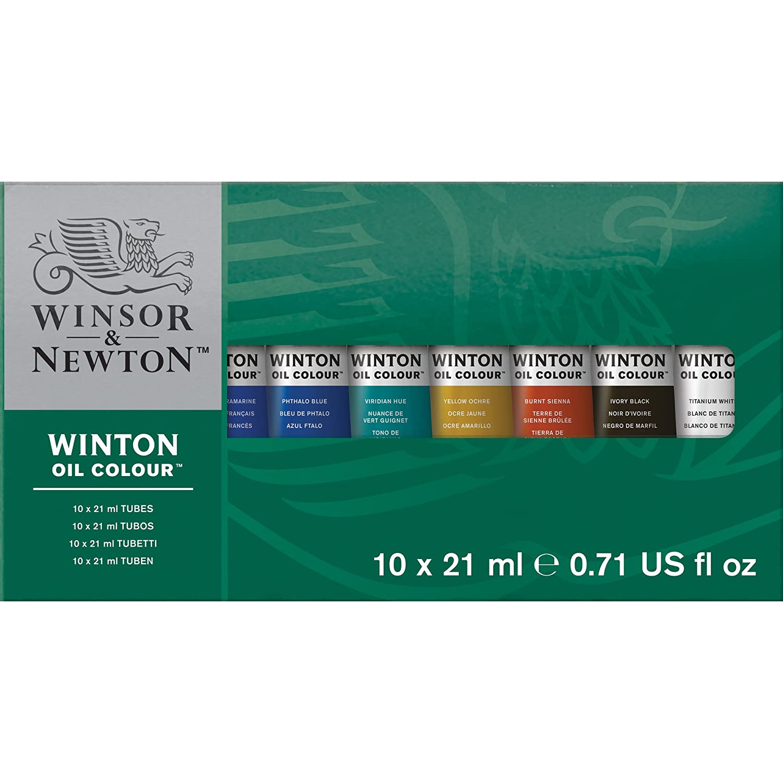Winsor & Newton Winton Oil Assortimento 10 Tubi 21 ml Colart 1490618