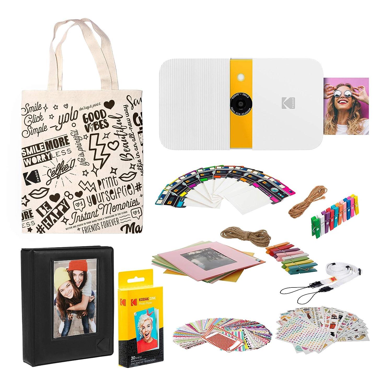 KODAK Smile Impresora Digital instantánea (Blanco/Amarillo) Kit de ...
