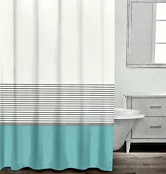 Amazon.com: Caro Home Modern Striped Shower Curtain By, Contemporary ...