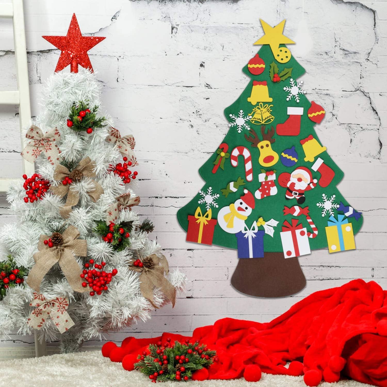 EKKONG Fieltro Árbol de Navidad, DIY Decoración del árbol de ...