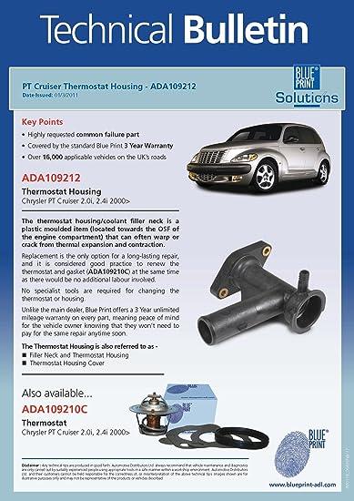 Blue print ada109212 thermostat housing amazon car motorbike malvernweather Choice Image