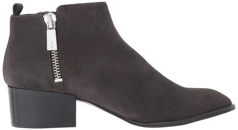 Kenneth Cole New York Women's Addy Western Double Zip Low Heel Suede Ankle Bootie B06ZYM67JY 5.5 B(M) US|Asphault