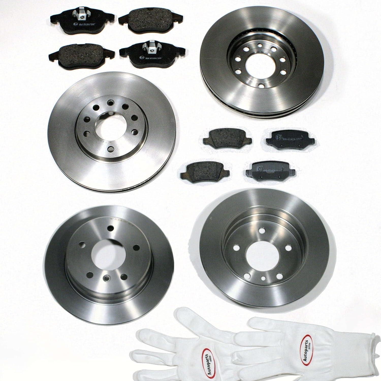 Bremsbel/äge f/ür Vorne Autoparts-Online Set 60005800 Bremsscheiben//Bremsen Hinten