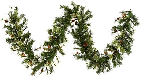 Vickerman Mixed Country Pine Garland With 200 Tips 9 Feet By 12 Inch Home Kitchen