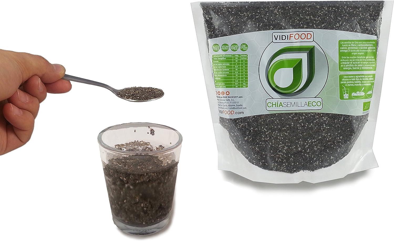 VidiFood Semillas de Chía ECO Naturales - 2 Unidades de 1 kg: Amazon.es: Alimentación y bebidas