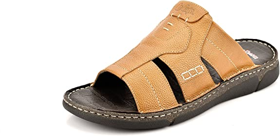 Lee Cooper Men's Leather Slippers Men's Fashion Sandals at amazon