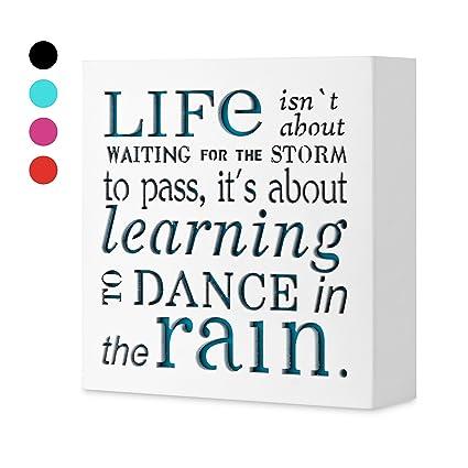 Amazon KAUZA Dance In The Rain 4040 X 4040in By Home Decor Unique Decorative Inspirational Signs