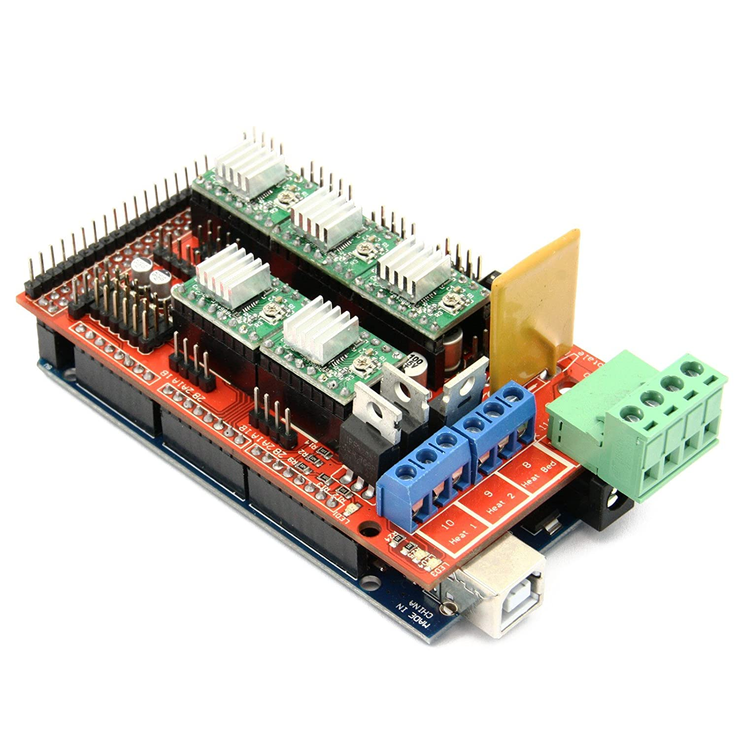 Mega2560 R3 + 5 pcs A4988 driver + RAMPS 1.4 3D Kit Geras-IT 272