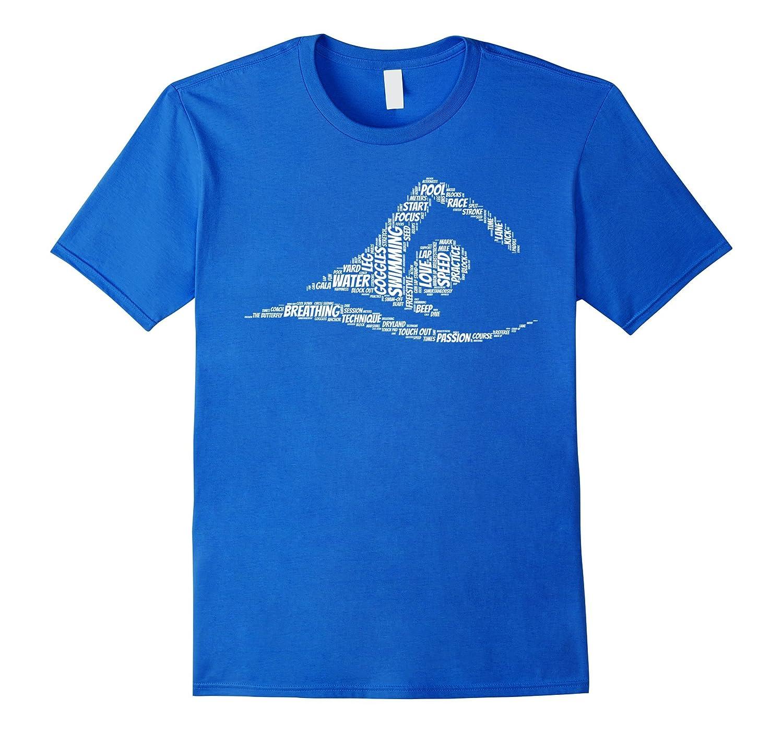 Swimming Shirt: Love to Swim Words Swimmer T-Shirt