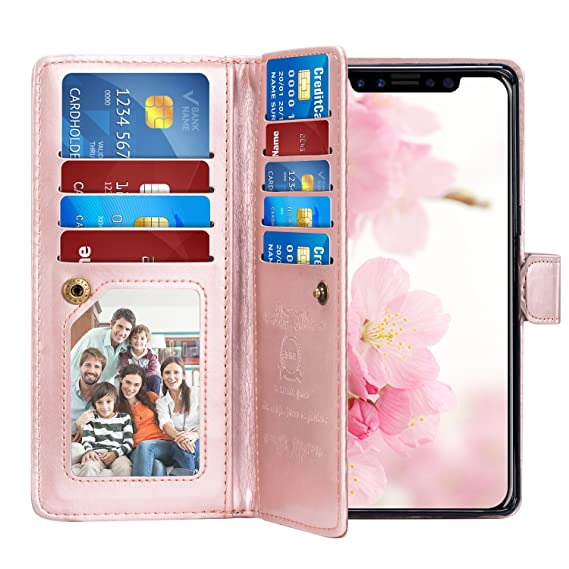 new style 86df2 3922f Amazon.com: PASONOMI iPhone X Case, iPhone X Wallet Case with ...