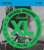 D'Addario EXL130 XL Nickel Wound Extra Super Light  (.008-.038) Electric Guitar Strings