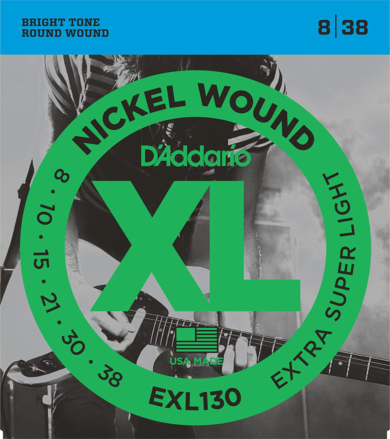 Round Wound with Nickel-Plated Steel for Long Lasting Distinctive Bright Tone and Excellent Intonation D/'Addario XL Nickel Wound Electric Guitar Strings Medium Blues Jazz Rock Gauge 11-49 10 Sets