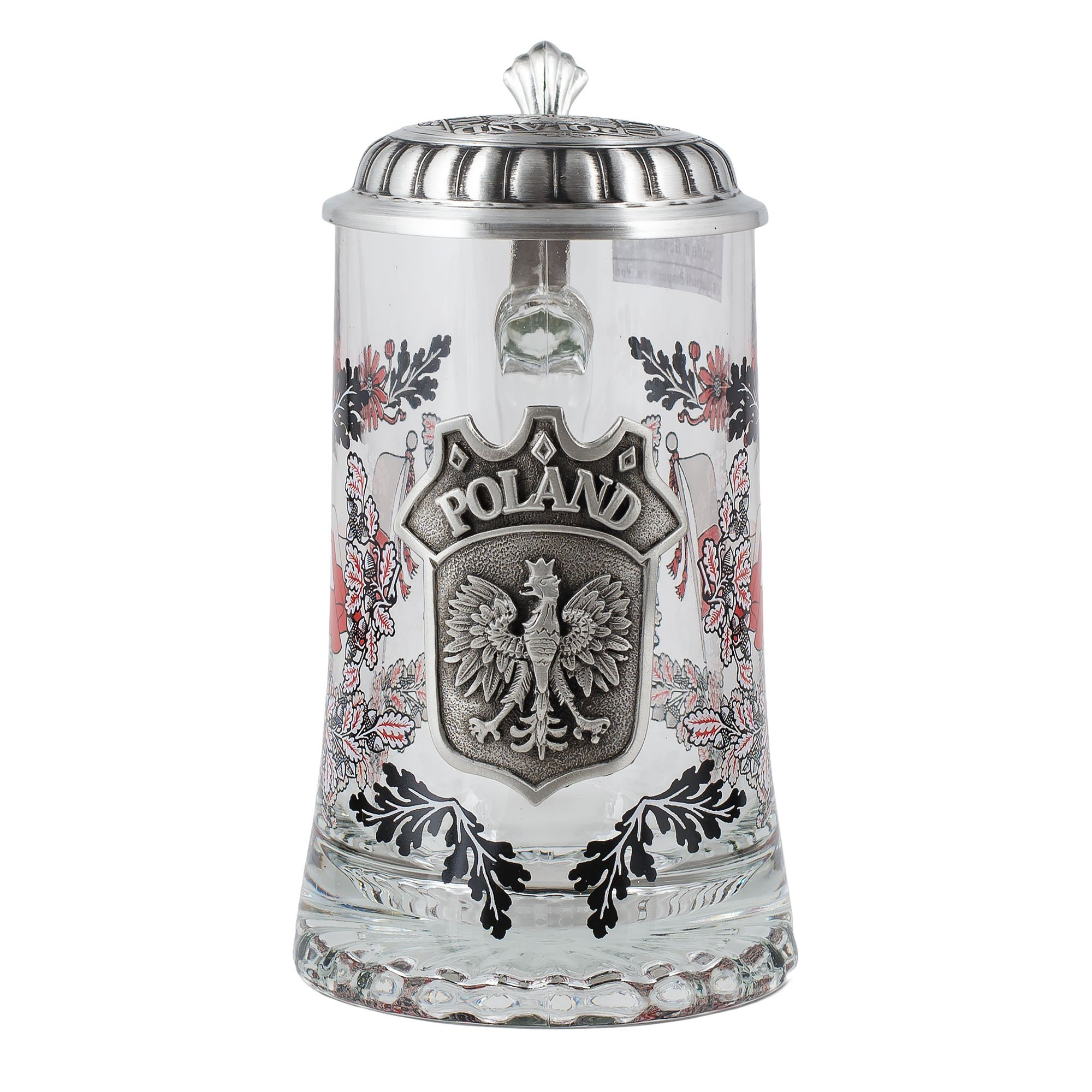 Glass Poland Steins - 1 Piece