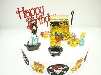 Piraten Geburtstag Kuchen Deko Set Amazon De Spielzeug