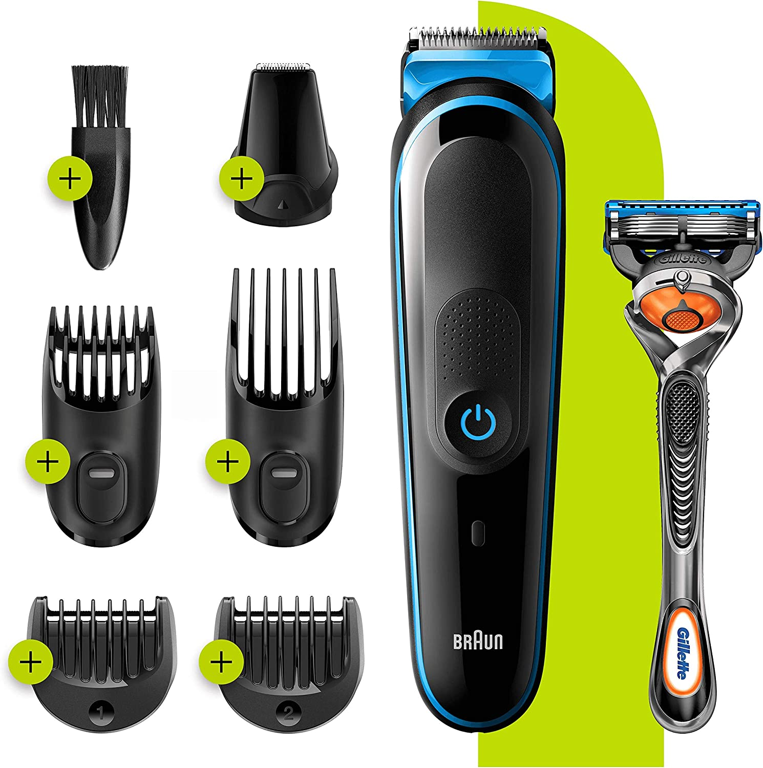 Kit de Barbero BRAUN MGK3245 7 en 1 Color Negro: Amazon.es: Salud y cuidado personal