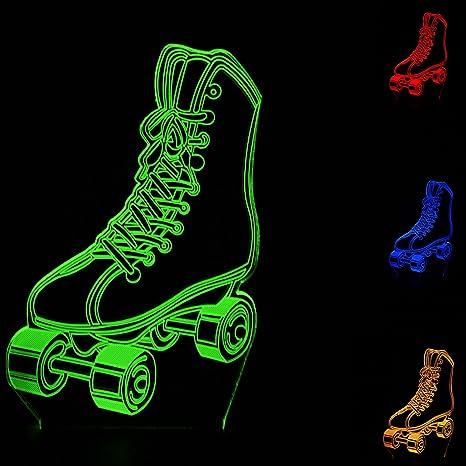 Toys & Hobbies Luminous 3d Illusion Led Lamp 7 Colors Change Desk Nightlight Skateboard Sport Model Light-up Toys