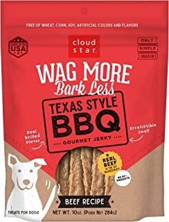 product image for Cloud Star Wag More Bark Less Grain Free, Real Meat Jerky Dog Treats, Small Batch & Made in USA