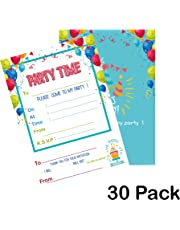 TX toys Party Invitations 30 X Party Time birthday invitations for boys and girls - invites (NO ENVELOPES)