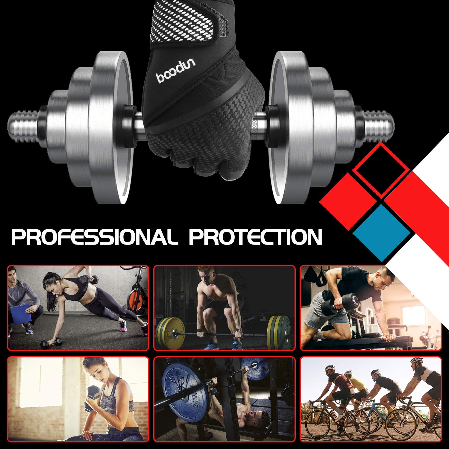 Weight Lifting Gloves with Breathable Anti-Slip Full Palm Protection for Pull Ups Cycling for Men and Women Venoro Workout Gloves with Wrist Strap Support Bars Protection Cross Training