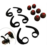 3 Pairs (LMS) Earbuds Stabilizer Silicone Ear Fins Wings Earhooks, 3 Pairs (LMS) Eartips Replacement Earbuds Tips Compatible