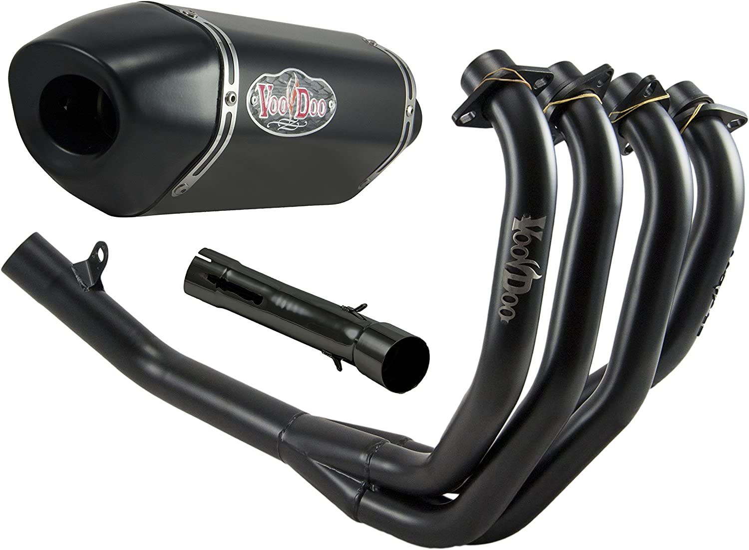 VooDoo Industries VEFSCBR900J3B Black Finish Shorty Exhaust//Muffler 4 Into 1 Full System for Canam CBR900RR
