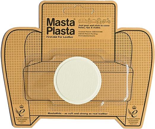 MastaPlasta - Parches autoadhesivos para reparación de Cuero y Otros Tejidos. Marfil. Elije el tamaño y el diseño. Primeros Auxilios para sofás, Asientos de Coche, Bolsos, Chaquetas: Amazon.es: Hogar
