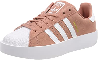 b3cfa1ae538c adidas Women's Superstar Bold Trainers, (Ash Pink/Footwear White/Gold  Metallic 0