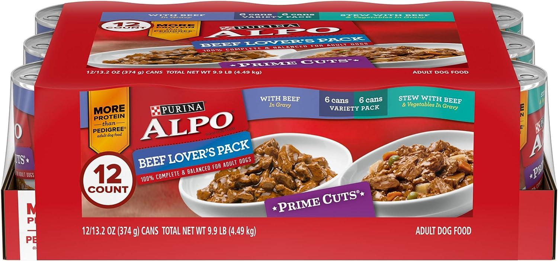 Purina ALPO Gravy Wet Dog Food Variety Pack, Beef Lover's ...
