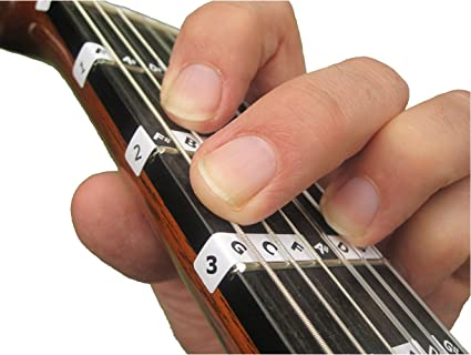 FRETNOTES Pegatinas - Para GUITARRA CLASICA de 6 cuerdas (tamaño 3 ...